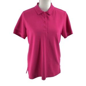 Land's End Pink Polo Shirt Short Sleeve Small 6-8